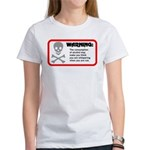Warning: alcohol whispering Women's T-Shirt