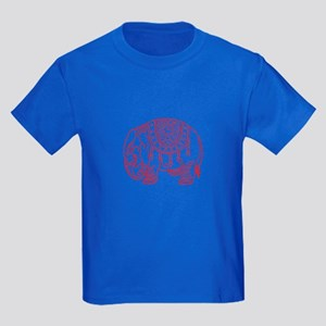 Japanese elephant - red - Kids Dark T-Shirt