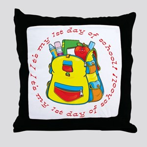 First 1st Day of School Throw Pillow
