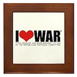 I Love War Framed Tile