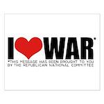 I Love War Small Poster