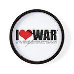 I Love War Wall Clock