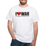 I Love War White T-Shirt