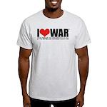 I Love War Light T-Shirt