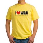 I Love War Yellow T-Shirt