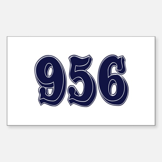 956 Rectangle Decal