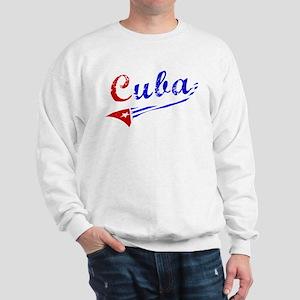 Cuba Flag Distressed Sweatshirt