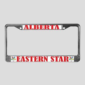Alberta Eastern Star License Plate Frame