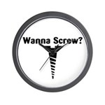 Wanna Screw? Wall Clock