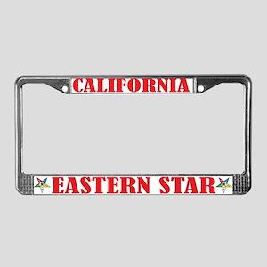 California Eastern Star License Plate Frame