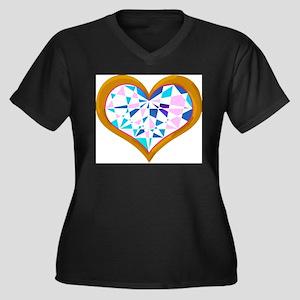 brilliant colored heart shape diamond in gold Plus