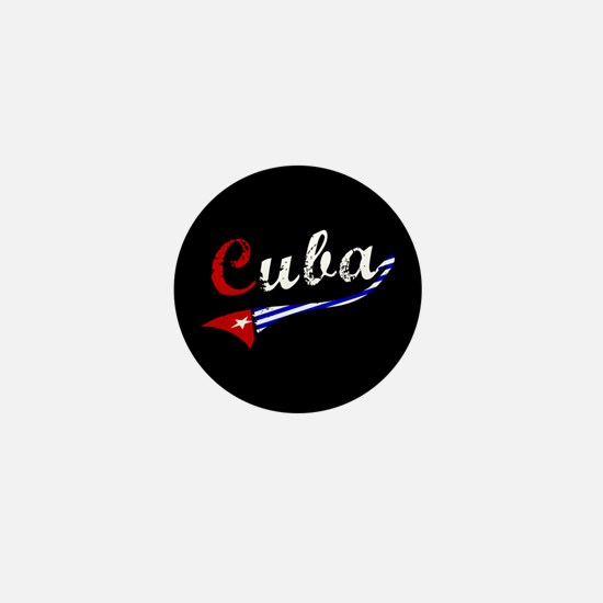 Cuba Flag Distressed Mini Button