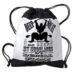 Funny Bodybuilding Squats Drawstring Bag