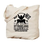 Funny Bodybuilding Squats Tote Bag