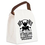 Funny Bodybuilding Squats Canvas Lunch Bag