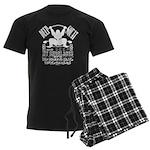 Funny Bodybuilding Squats Men's Dark Pajamas