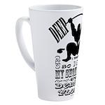 Funny Bodybuilding Squats 17 oz Latte Mug