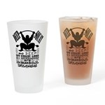 Funny Bodybuilding Squats Drinking Glass