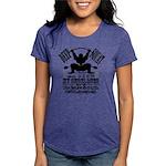Funny Bodybuilding Squats Womens Tri-blend T-Shirt