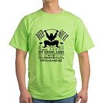 Funny Bodybuilding Squats Green T-Shirt