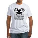 Funny Bodybuilding Squats Fitted T-Shirt