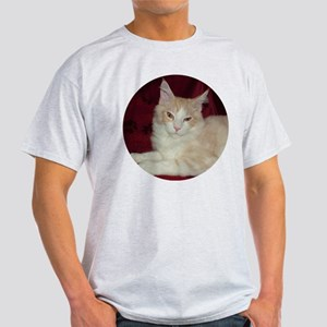 'Pink' Maine Coon Cat Comfy Ash Grey T-Shirt