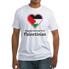 Happily Married Palestinian Fitted T-Shirt