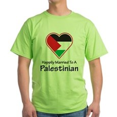 Happily Married Palestinian Green T-Shirt