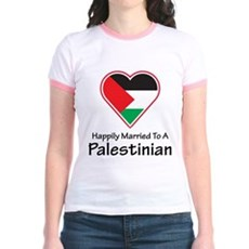 Happily Married Palestinian Jr. Ringer T-Shirt