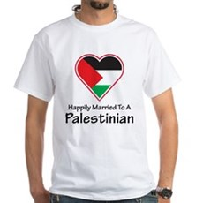 Happily Married Palestinian White T-Shirt