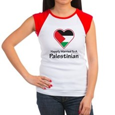 Happily Married Palestinian Women's Cap Sleeve T-S
