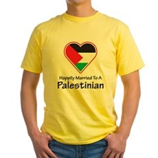 Happily Married Palestinian Yellow T-Shirt