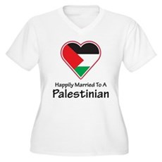 Happily Married Palestinian Women's Plus Size V-Ne