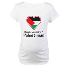 Happily Married Palestinian Maternity T-Shirt