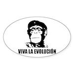 Viva La Evolucion Oval Sticker (10 pk)