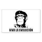 Viva La Evolucion Rectangle Sticker 50 pk)