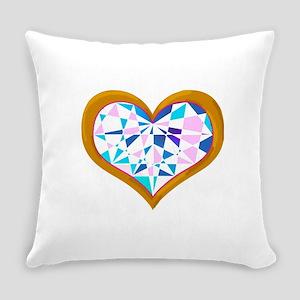 brilliant colored heart shape diamond in gold Ever