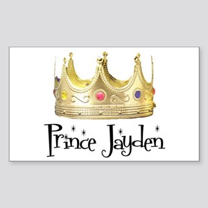 Prince Jayden Rectangle Sticker