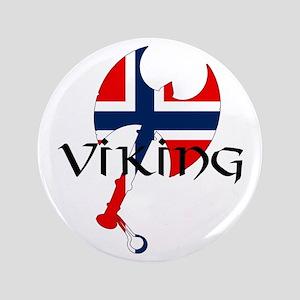 "Norway Viking 3.5"" Button"