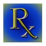 Pharmacy Rx Tile Coaster