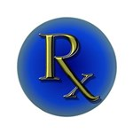 """Pharmacy Rx 3.5"""" Button (100 pack)"""