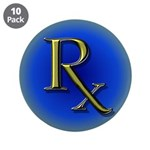 """Pharmacy Rx 3.5"""" Button (10 pack)"""