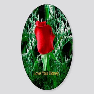 Valentines Day Gift Oval Sticker