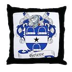 Grieve Family Crest Throw Pillow