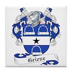 Grieve Family Crest Tile Coaster