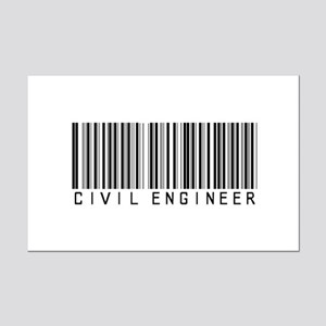 Civil Engineer Barcode Mini Poster Print