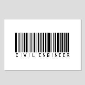 Civil Engineer Barcode Postcards (Package of 8)