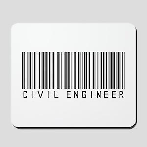 Civil Engineer Barcode Mousepad