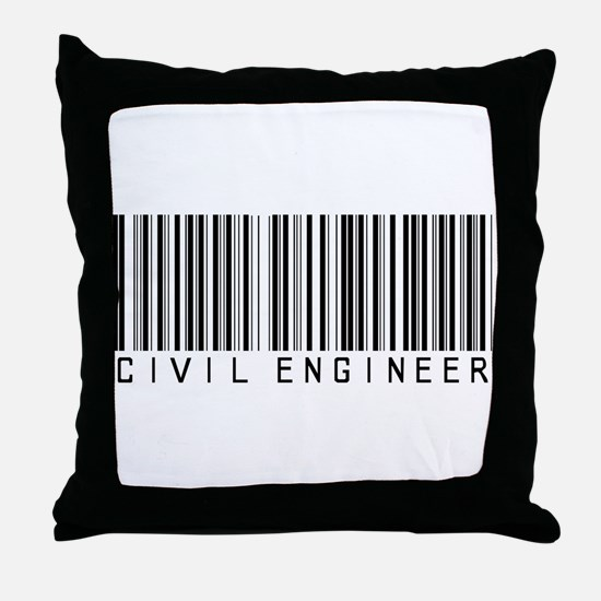 Civil Engineer Barcode Throw Pillow
