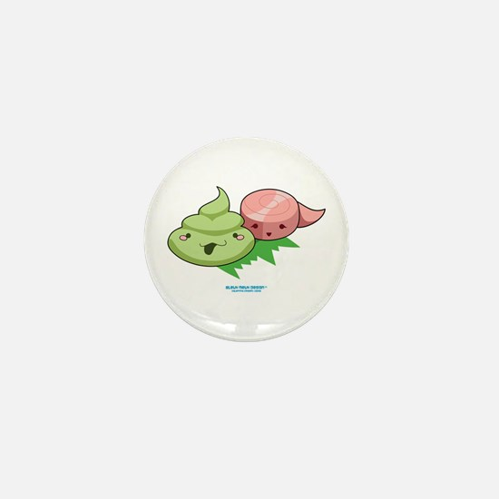 Kawaii Wasabi & Ginger Mini Button